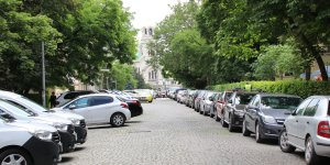 Street with parking cars