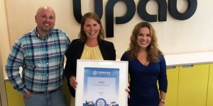 The Swedish City of Umea proudly presents the ParkPAD certificate