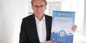Prof. Dr. Martin Haag receives the ParkPAD Certificate
