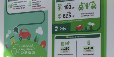 Information sign on E-mobility